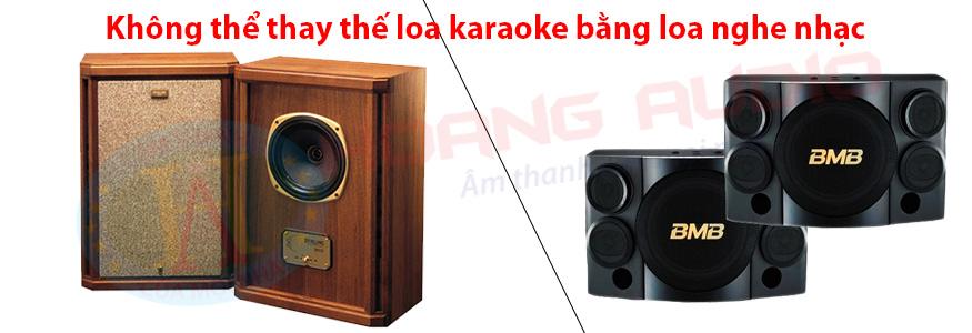 khong-the-thay-the-loa-nghe-nhac-bang-loa-karaoke