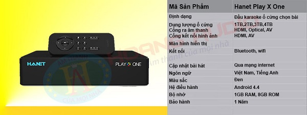 Đầu Hanet Play X One 1 TB